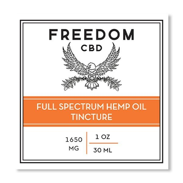 full spectrum cbd tincture front label