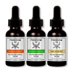 3 pack of flavored full spectrum cbd tinctures
