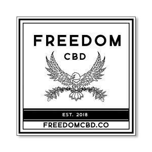 Freedom CBD sticker