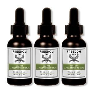 Freedom CBD CBG+CBD 1:1 full spectrum tincture bottle 3-pack