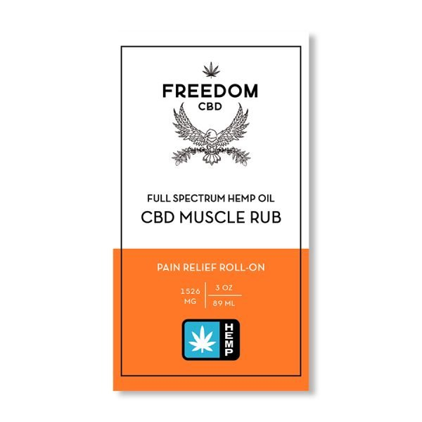 Freedom CBD full spectrum hemp oil CBD muscle rub label