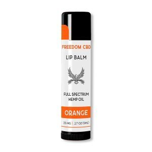 Freedom CBD full spectrum hemp oil orange lip balm